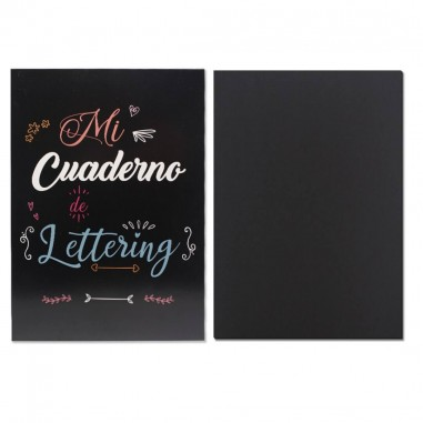 CUADERNO A4 LETTERING 50H NEGRAS