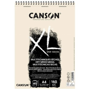 BLOC CANSON XL TOUCH ARENOSO 40H A4 BLANCO